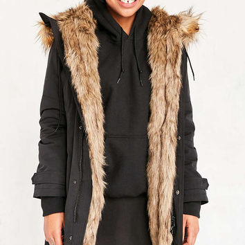Silence + Noise Faux Fur Lined Parka - Urban Outfitters