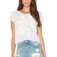 New Friends Colony Short Sleeve Top in White