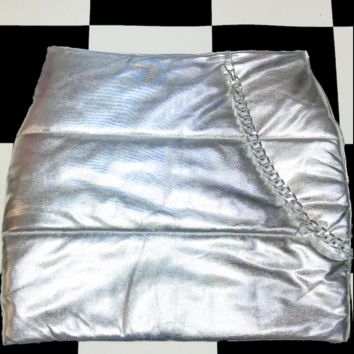 SWEET LORD O'MIGHTY! BRATITUDE PUFFER SKIRT IN SILVER