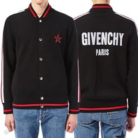 Givenchy Fashion Women Men Casual Print Long Sleeve Cardigan Jacket Coat Black