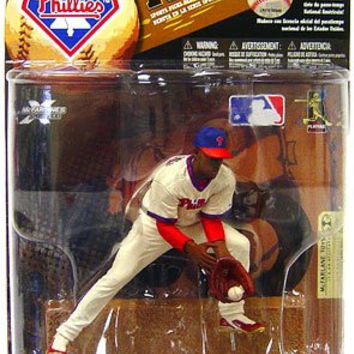 McFarlane Toys MLB Sports Picks Series 24 (2009 Wave 1) Exclusive Action Figure Jimmy Rollins (Philadelphia Phillies) Throwback Uniform and Blue Hat