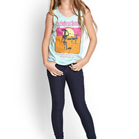 FOREVER 21 GIRLS The Endless Summer Tank (Kids) Mint/Pink
