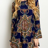 Boho Empire Mini Dress