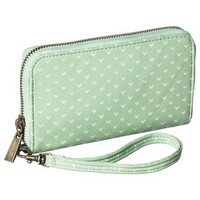 Printed Phone Case Wallet with Removable Wristlet Strap - Mint