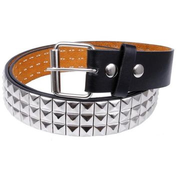 PEAPGQ9 Studded Leather Belt