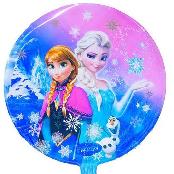 3pc helium balloons 18inch anna elsa foil balloons for girl happy birthday balloons party decoration