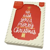 Holiday Boxed Card Typeset Tree 16 Ct : Target