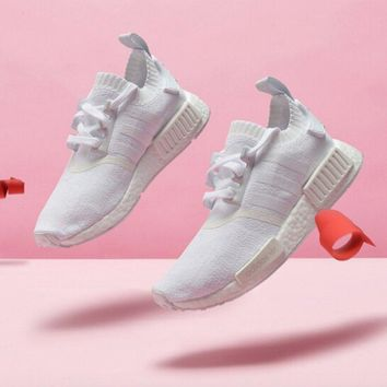 "Adidas NMD R1 PK Boost ""White"" Running Shoes CQ2040"
