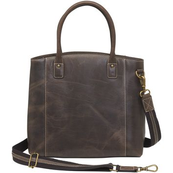 GTM/CZY-51 Distressed Buffalo Leather Town Tote