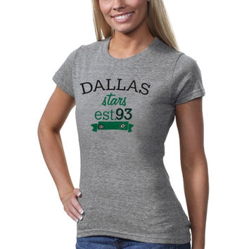 Old Time Hockey Dallas Stars Women's Lodi T-Shirt - Ash