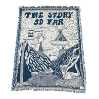 The Story So Far - Knitted Throw Blanket Sample