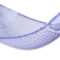 Artisan Crafted Hammock (Single) - Ocean Waves | NOVICA