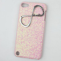 """Light Pink  Hard Case Cover With One Direction """"Directioner"""" Infinity for Apple Ipod Touch 5, iPod Touch 5th,iTouch 5,iPod Touch 5"""
