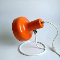 Vintage Desk Lamp / Table Lamp / 80s Lighting / Orange lamp