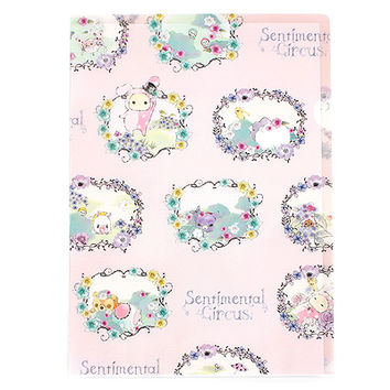Buy San-X Sentimental Circus A4 Clear File Pink Flower Garlands at ARTBOX