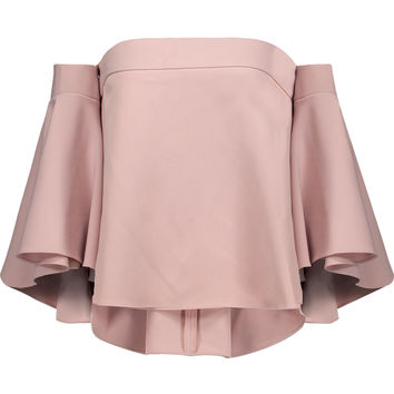 Rosa off-the-shoulder ruffled cady top | Milly | UK | THE OUTNET