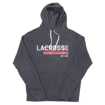 Lacrosse - American Tradition Black Triblend Hoodie