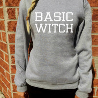 Basic Witch Sweatshirt for women cozy sweater Tumblr bloggers Funny adult grunge Halloween jumper By FavoriTee