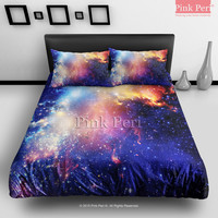 Colorful Galaxy Nebula Bedding Sets Home Gift Home & Living Wedding Gifts Wedding Idea Twin Full Queen King Quilt Cover Duvet Cover Flat Sheet Pillowcase Pillow Cover 052