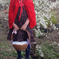 Little Red Riding hood cape, Halloween, dress up, photo prop, play 0-5 years