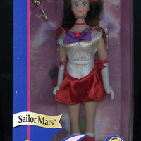 "Rare 6"" Sailor Mars Adventure Doll by Ban Dai Vintage 1995 Never Opened, Free Shipping"