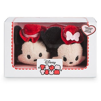 Disney Store Mickey Minnie 2017 Scented Chocolate Valentine Tsum Set New w Box