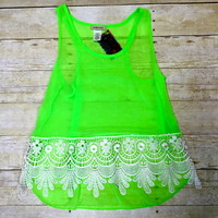 Lime green top from PeaceLove&Jewels