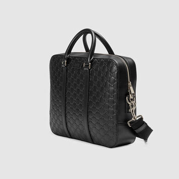 Gucci - Gucci Signature leather briefcase