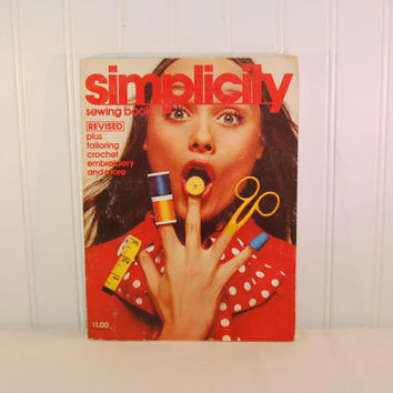 Vintage Simplicity Sewing Book (c. 1972) Revised, Retro Style, Sewing, Tailoring, Crochet, Embroidery, How To Sew, How To Measure