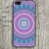 Pink Mandala pattern iphone 6 6 plus iPhone 5 5S 5C case Samsung S3,S4,S5 case Ipod Silicone plastic Phone cover Waterproof