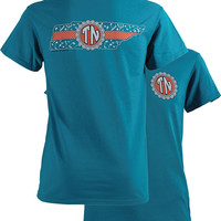 Southern Couture Tennessee Preppy Monogram State Girlie Bright T Shirt