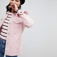 Stradivarius Oversized Denim Jacket at asos.com