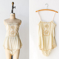 1920s lingerie / 20s flapper silk step in / by adoredvintage