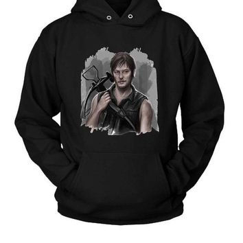 ICIK7H3 The Walking Dead Daryl Dixon Sorry Hoodie Two Sided