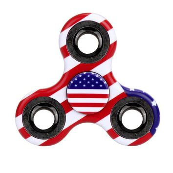 Finger Spinner Plastic Tri-Spinner Fidget Hand Spinner Camouflage Multi-Color EDC Focus Toys for children fidget spinner