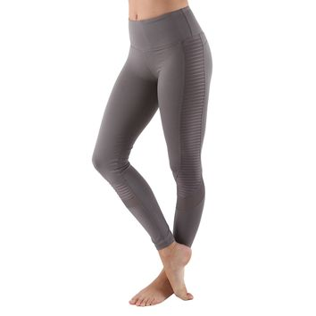 Women's Poly Active Long Yoga Compression Leggings - Dark Gray