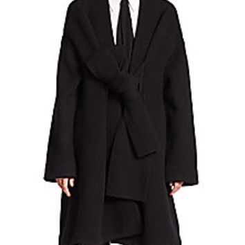 Acne Studios - Hava Tie-Front Boiled Wool Coat - Saks Fifth Avenue Mobile