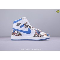 NIKE Air Jordan 1 Trending Men Popular High Help Sport Basketball Shoes Sneakers 6#