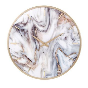Marble Textured Wall Clock