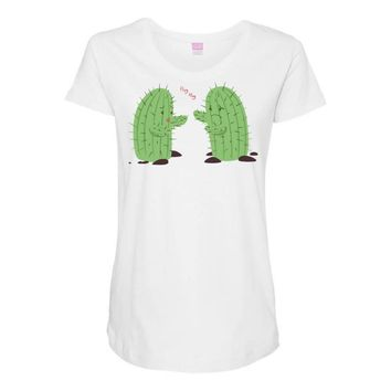 cactus lover Maternity Scoop Neck T-shirt