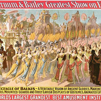 Spectacle Of Balkis Circus Poster
