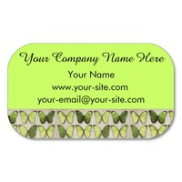 Vintage Green Butterflies Business Cards