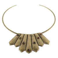 Bandit Bib with Tips Necklace / Antique Brass (view more colors) - The 2 Bandits