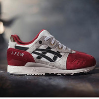 """ASICS GEL LYTE ""TRENDING Sneaker running shoes  Sports Shoes red gray"