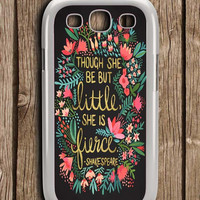 The Little Fierce On Charcoal Samsung Galaxy S3 Case
