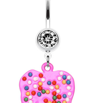 Bright Elephant Sprinkle Belly Button Ring