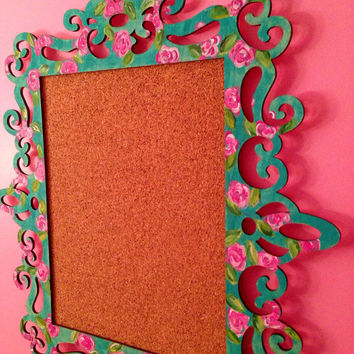 Lilly Pulitzer Inspired Cork Board, Great for Dorm/Bed Rooms