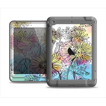 The Colorful WaterColor Floral Apple iPad Mini LifeProof Nuud Case Skin Set