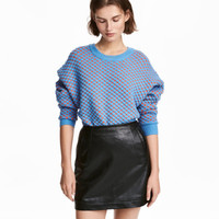 Faux Leather Skirt - from H&M