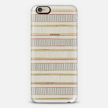 veneto linear stripe transparent iPhone 6s case by Sharon Turner | Casetify